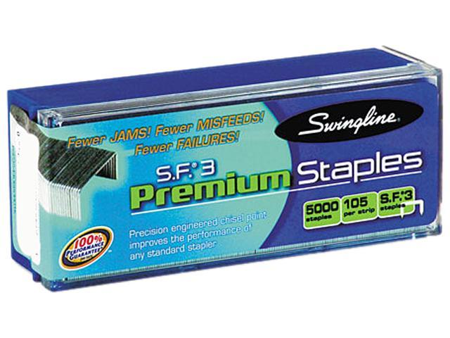 Swingline 35440 S.F. 3 Premium Chisel Point 105 Count Half Strip Staples, 5,000/Box