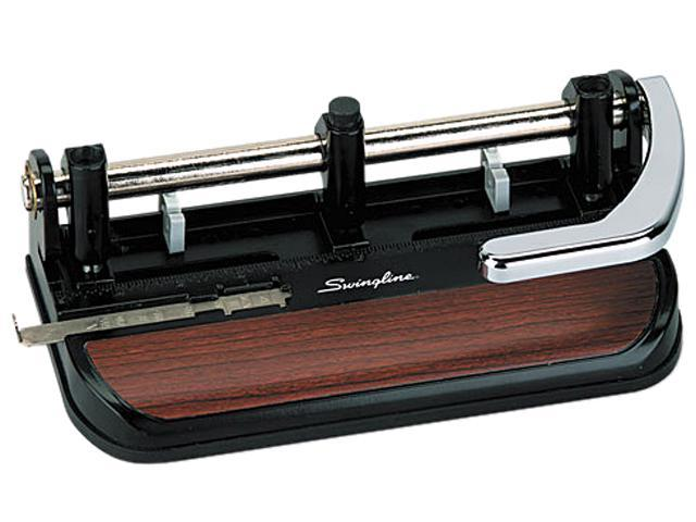 Swingline 74400 40-Sheet Heavy-Duty Lever Action Two- to Seven-Hole Punch, 11/32 Holes