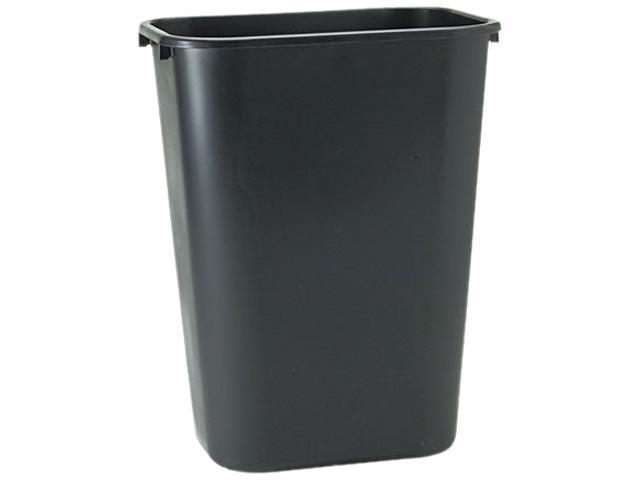 Rubbermaid Commercial 295700BK Soft Molded Plastic Wastebasket, Rectangular, 10 1/4 gal, Black