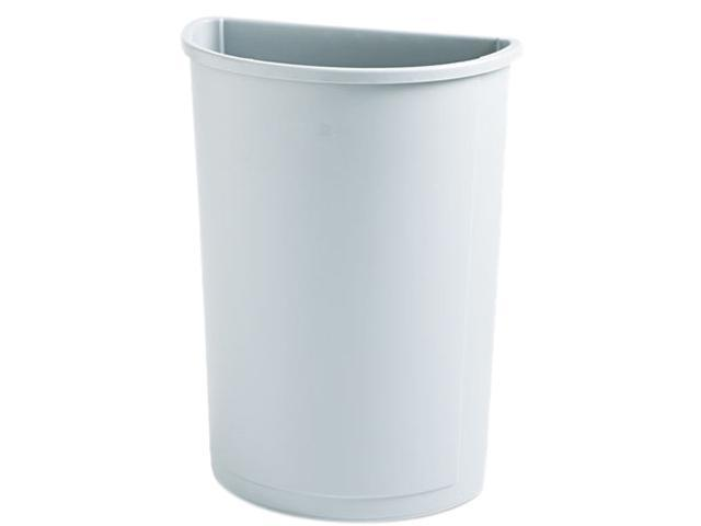 Rubbermaid Commercial 352000GY Untouchable Waste Container, Half-Round, Plastic, 21 gal, Gray