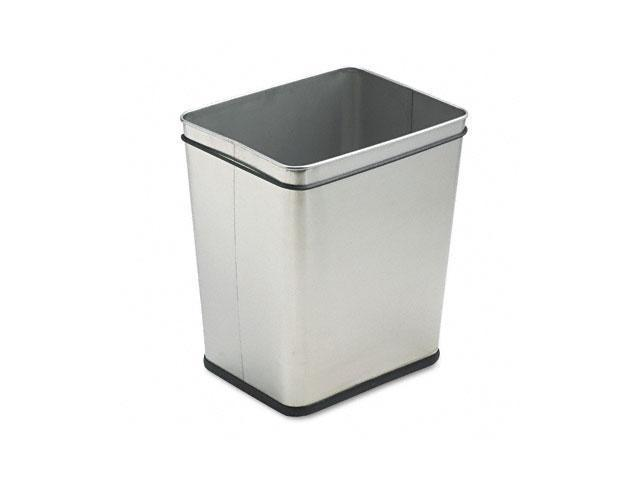 Rubbermaid Commercial WB29RSS Wastebasket, Rectangular, Steel, 7.25 gal, Stainless Steel