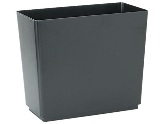 Rubbermaid Commercial 25051 Designer 2 Wastebasket, Rectangular, Plastic, 6 1/2 gal, Black