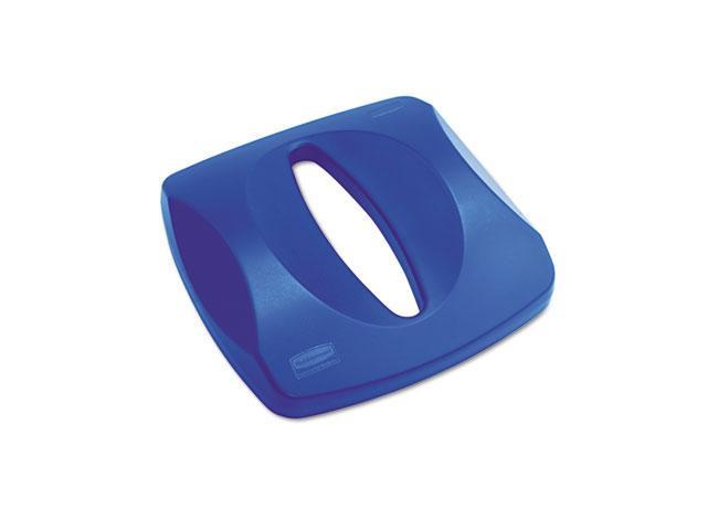Rubbermaid Commercial                    Untouchable Recycling Tops, 16 x 3 1/4, Blue