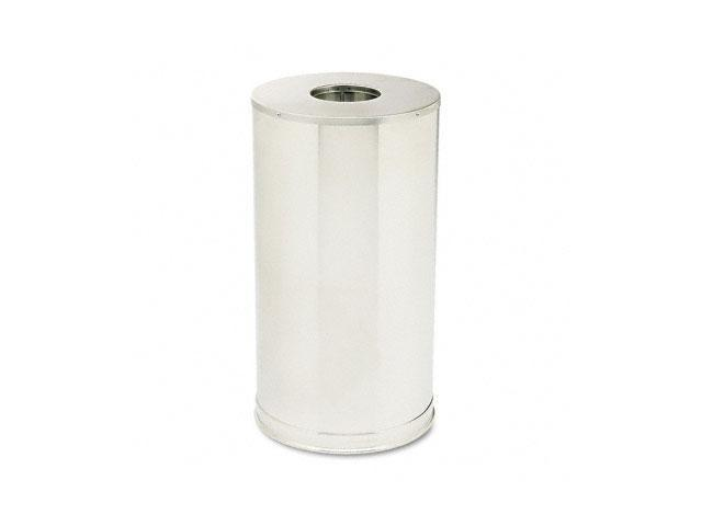 Rubbermaid Commercial                    European & Metallic Series Drop-In Top Receptacle, Round,15 gal, Satin Stainless