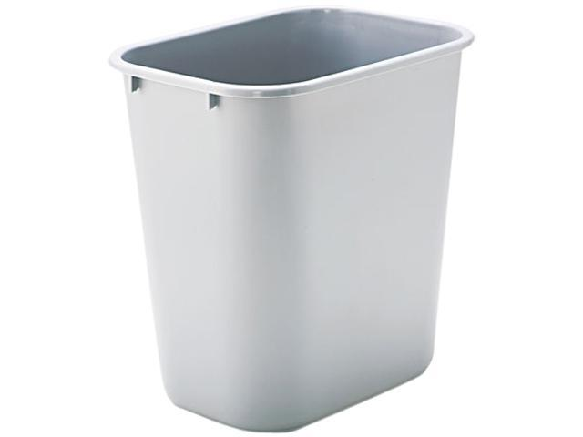 Rubbermaid Commercial 295600GY Soft Molded Plastic Wastebasket, Rectangular, 7 gal, Gray