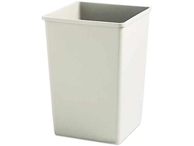 Rubbermaid Commercial 395800BG Plaza Waste Container Rigid Liner, Square, Plastic, 35 gal, Beige