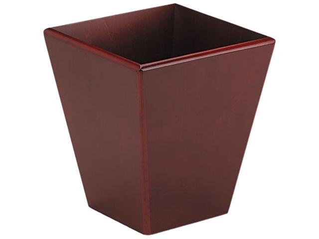 Rolodex 99200 Wood Tones Wastebasket, Trapezoidal, Wood, Mahogany