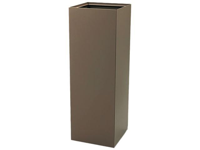 Safco 2984BR Public Recycling Container, Square, Steel, 42 gal, Brown