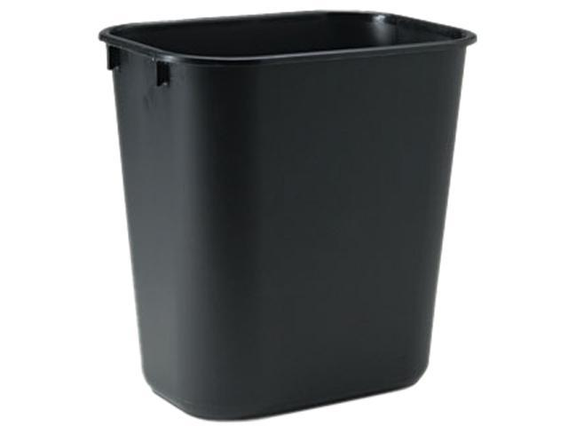 Rubbermaid Commercial 295500BK Soft Molded Plastic Wastebasket, Rectangular, 3 1/2 gal, Black