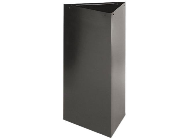 Safco 9552BL Trifecta Receptacle 34 Inch High Base, Triangular, 19 gal, Black