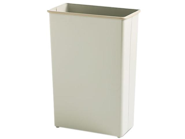 Safco 9618SA Fire-Safe Wastebasket, Rectangular, Steel, 22 gal, Sand