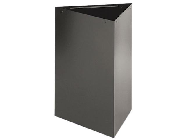 Safco 9550BL Trifecta Receptacle 26 Inch High Base, Triangular, 15 gal, Black