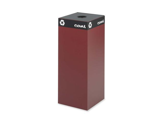 Safco 2983BG Public Recycling Container, Square, Steel, 37 gal, Burgundy