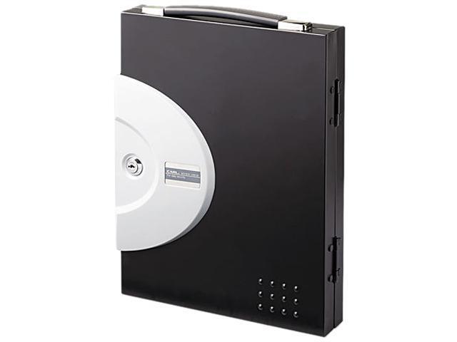 Carl Locking 32-Key Cabinet w/Carry Handle & Wall Mount, Black