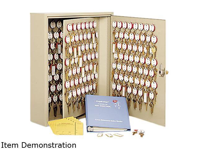 Steelmaster Locking Disc-Tumbler 60-Key Welded Steel Cabinet, 14w x 3 1/8d x 17 1/2h, Sand