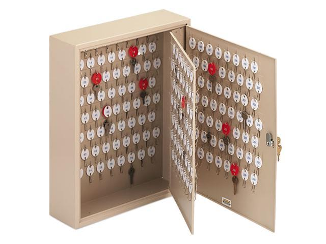Steelmaster Locking 240-Key Welded Steel Cabinet, 16 1/2w x 5d x 20 1/2h, Sand