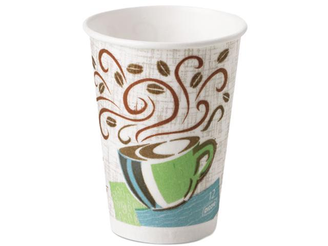 Dixie 5342DX Hot Cups, Paper, 12 oz., Coffee Dreams Design, 500/Carton