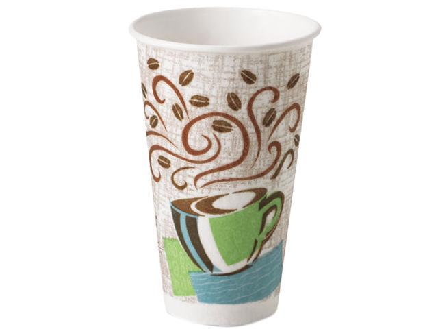 Dixie 5356CD Hot Cups, Paper, 16 oz., Coffee Dreams Design, 50/Pack