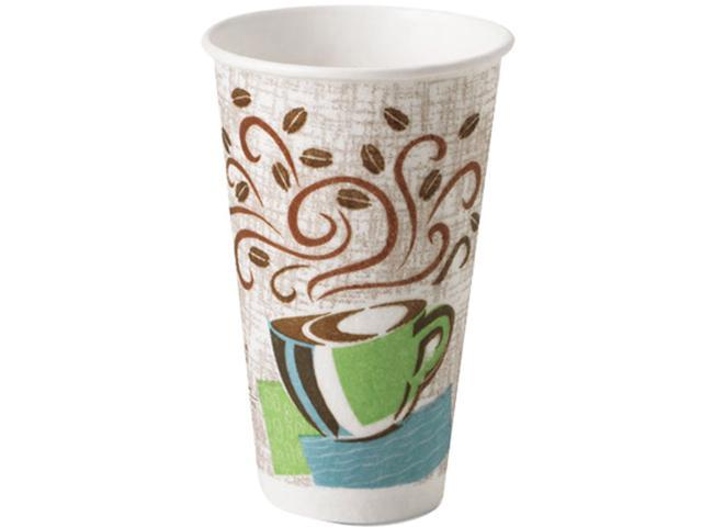 Dixie 5356DX Hot Cups, Paper, 16 oz., Coffee Dreams Design, 500/Carton