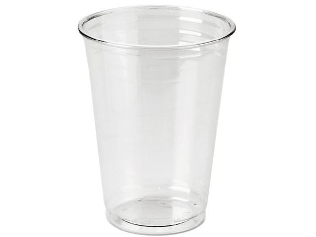 Dixie CP10DX Clear Plastic PETE Cups, Cold, 10 oz., WiseSize Packs, 500 cups/Carton