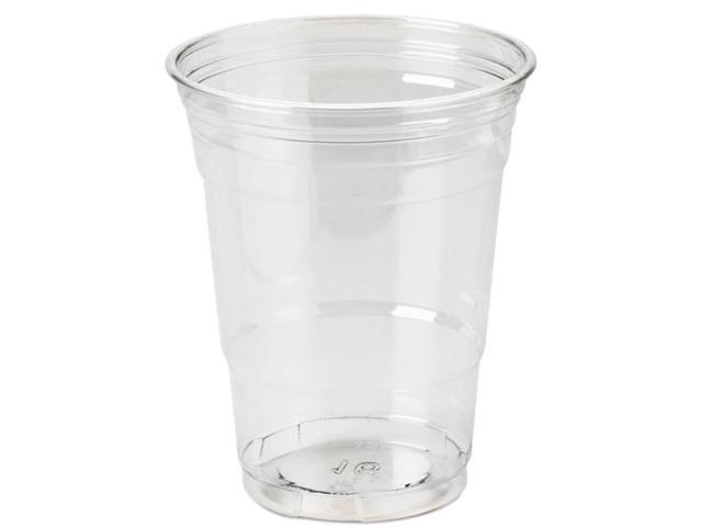 Dixie CP16DX Clear Plastic PETE Cups, Cold, 16 oz., WiseSize Packs, 500/Carton
