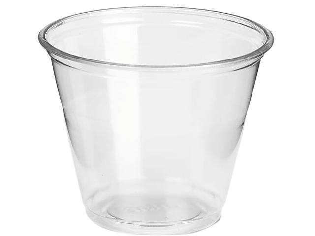 Dixie CP9A Clear Plastic PETE Cups, Cold, 9 oz, Regular Size, 20 Packs of 50/Carton