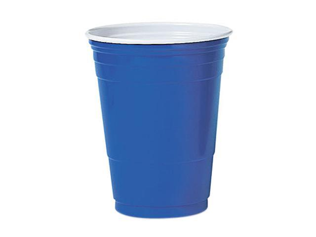 Solo Cup P16BRL Plastic Party Cold Cups, 16 oz., Blue, 50/Pack