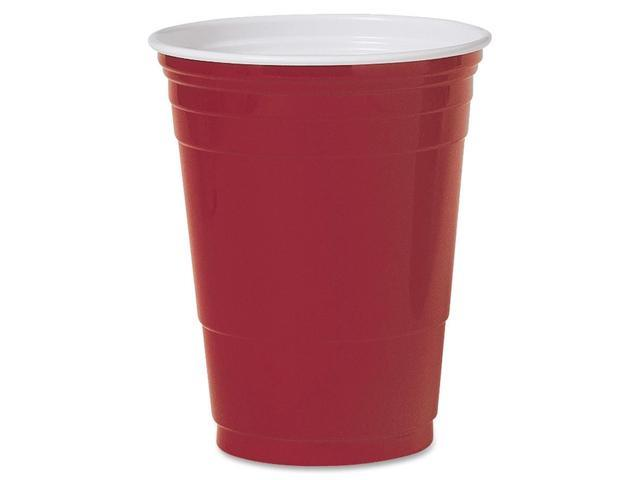 SOLO Cup Company P16RLRCT Plastic Party Cold Cups, 16 oz., Red, 20 Bags of 50/Carton
