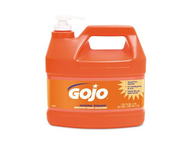 GOJO 0945-04 NATURAL ORANGE Smooth Hand Cleaner, 1 gal, Pump Dispenser,Citrus Scent, 4/Carton