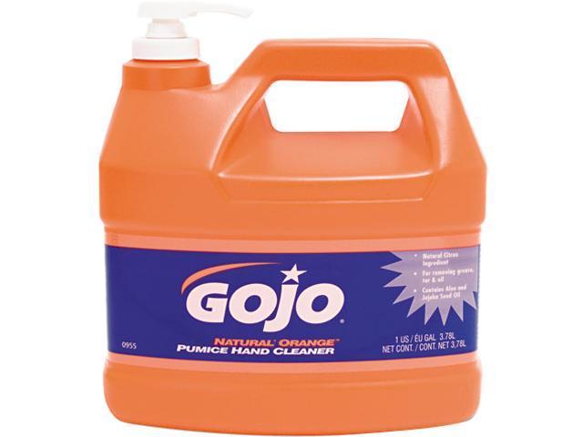 GOJO 0955-04EA Natural Orange Pumice Hand Cleaner, Orange Citrus, 1 gal Pump