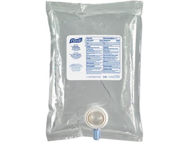 PURELL 2156-08CT Instant Hand Sanitizer NXT Refill, 1000-ml Pouch, 8/Carton