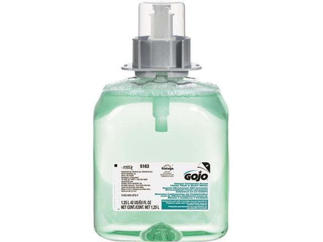 GOJO 5163-03 Luxury Foam Hair & Body Wash, 1250-ml Refill, Cucumber Melon Scent, 1 Each