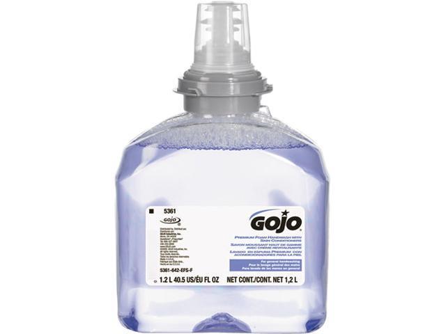 GOJO 5361-02 TFX Luxury Foam Hand Wash, Cranberry, Dispenser, 1200ml