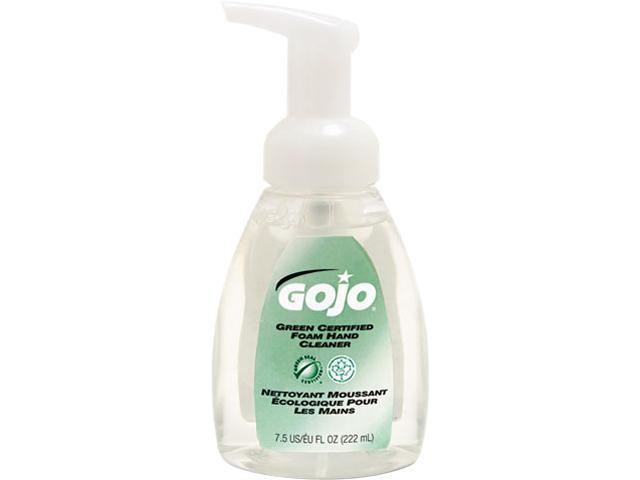 GOJO 5715-06 Green Certified Foam Soap, Fragrance-Free, Clear, 7.5 oz. Pump Bottle