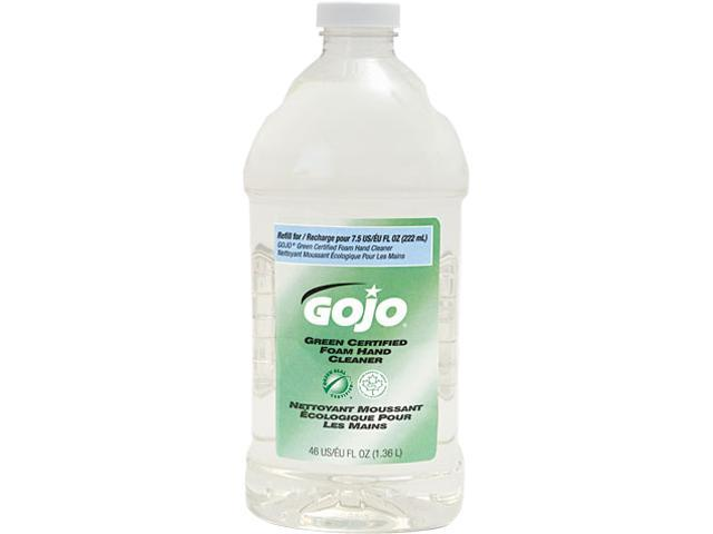 GOJO 5725-02 Refill For Green Certified Foam Soap, Fragrance-Free, Clear, 46 oz.