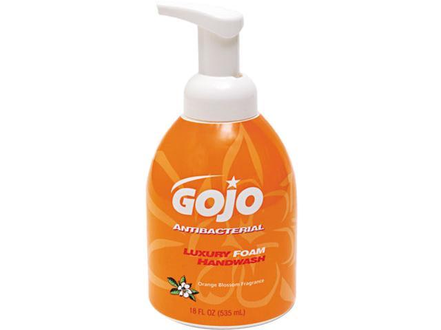 GOJO 5762-04 Luxury Foam Antibacterial Handwash, Orange Blossom, 18 oz Pump