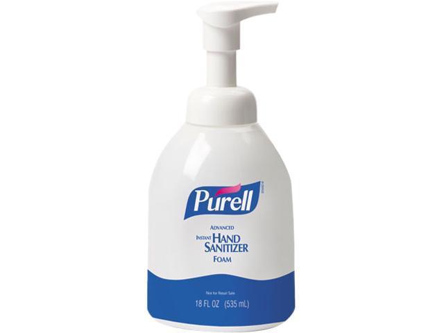 PURELL 5792-04 Non-Aerosol Foaming Hand Sanitizer, w/Moisturizers, 18 oz Pump Bottle