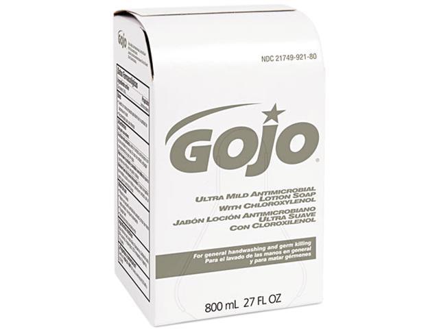 GOJO 9212-12CT Ultra Mild Lotion Soap w/Chloroxylenol Refill, Lightly Scented,800-ml, 12/Ctn