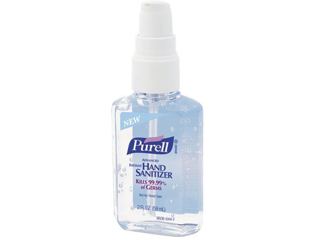 PURELL 9606-24 Instant Hand Sanitizer, 2-oz. Personal Pump Bottle, 24/Carton