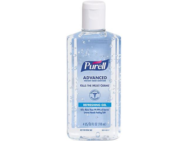 PURELL 9631EA Instant Hand Sanitizer w/Aloe, 4-oz Flip-Cap Bottle