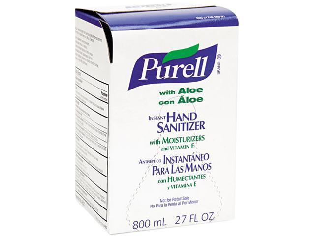 PURELL 9637 Instant Hand Sanitizer 800-ml Refill, Aloe, 12/Carton