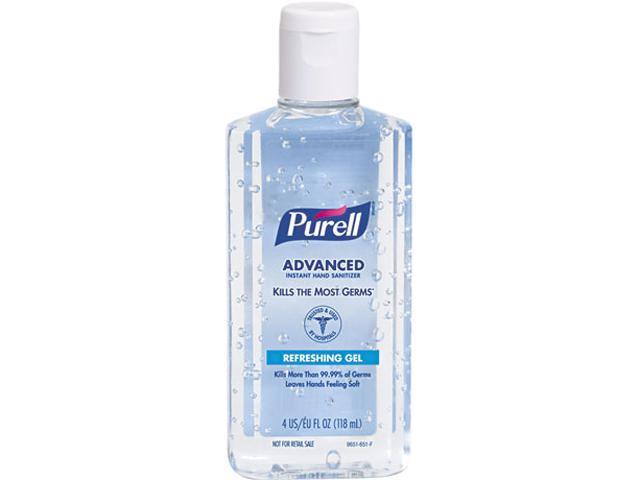 PURELL 9651-24 Instant Hand Sanitizer, 4-oz. Flip-Cap Bottle, 24/Carton