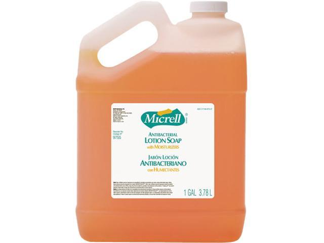 GOJO 9755-04CT MICRELL Antibacterial Lotion Soap, Unscented Liquid, 1 gal Bottle, 4/Carton