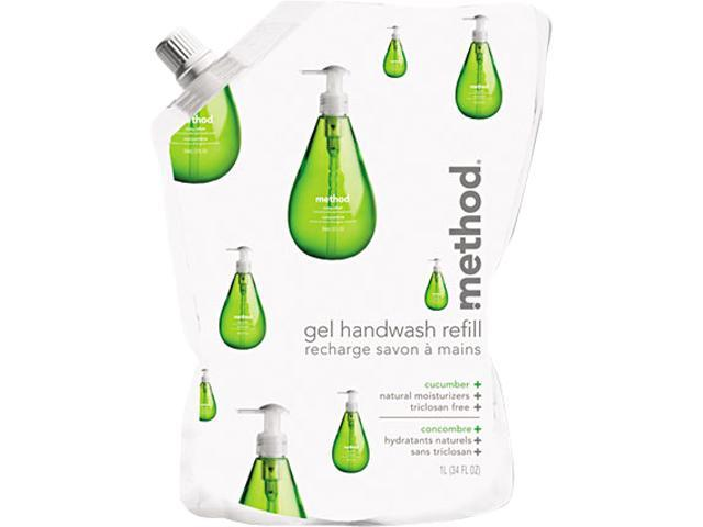 Method 00656 Gel Hand Wash Refill, 34 oz., Cucumber Scent, Plastic Pouch