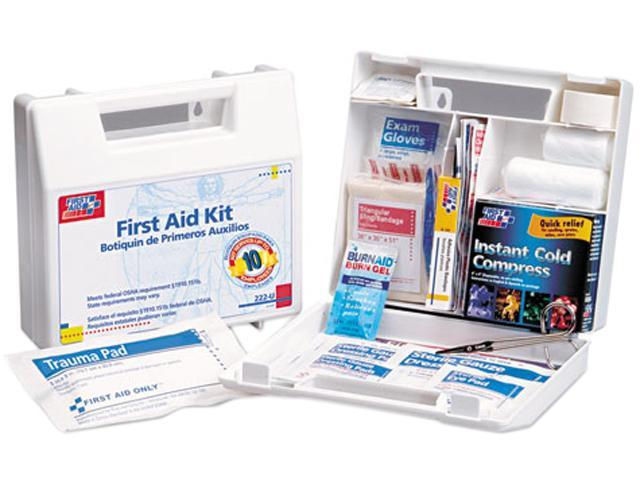 First Aid Only 222-U First Aid Kit for 10 People, 62 Pieces, OSHA Compliant, Plastic Case