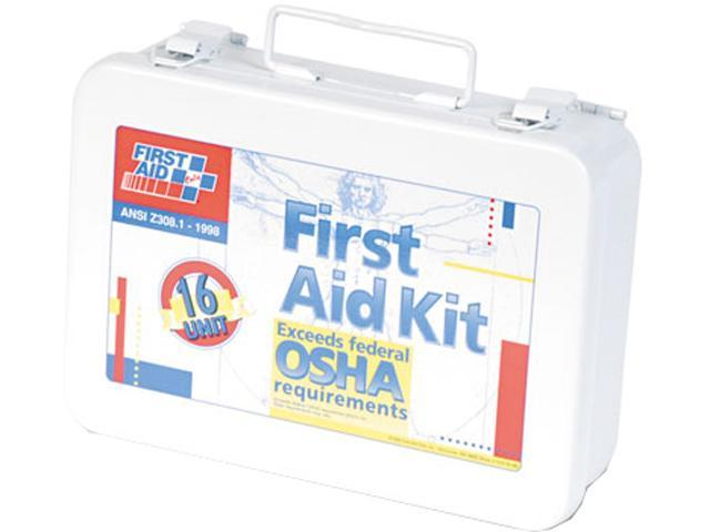 First Aid Only 241-AN Unitized First Aid Kit for 16 People, 94 Pieces, OSHA/ANSI, Metal Case