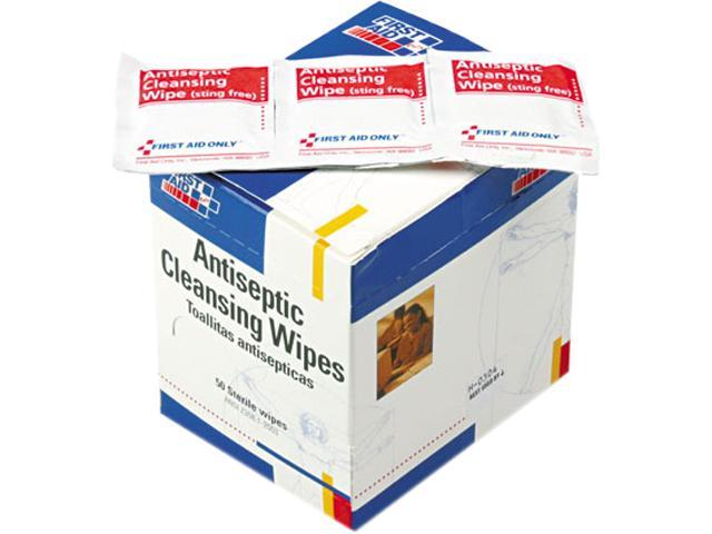 First Aid Only H-307 Antiseptic Cleansing Wipes, 50/Box