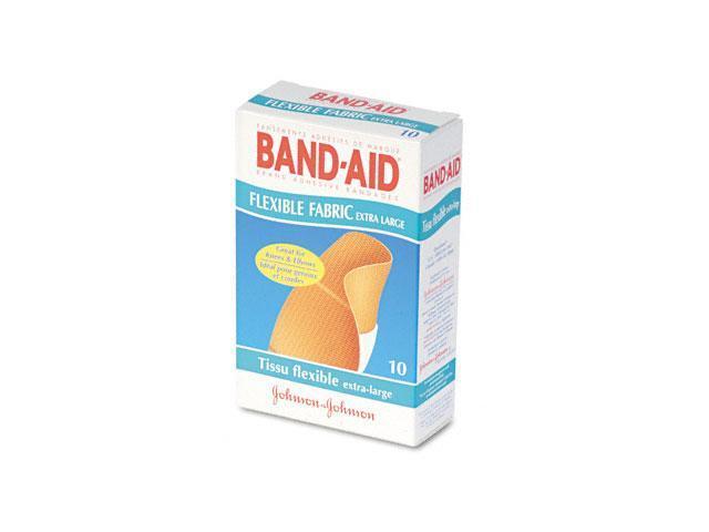 Flexible Fabric Extra Large Adhesive Bandages, 1-1/4 x 4, 10/Box