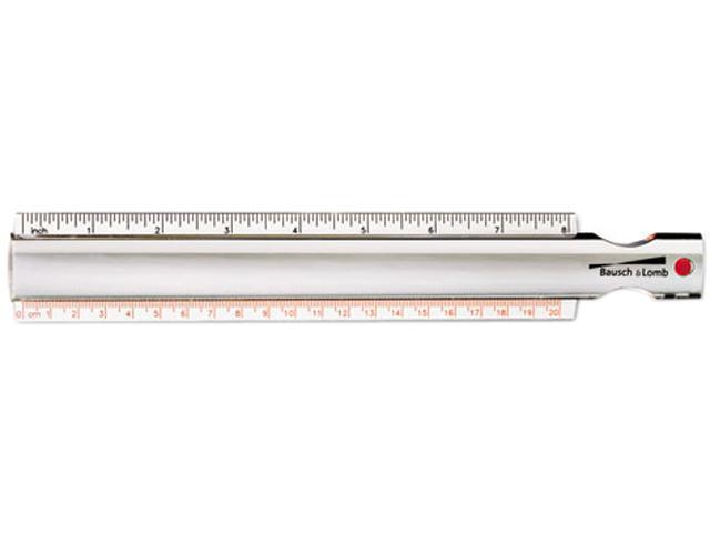 Bausch & Lomb 812618 2X Magna-Rule Bar Magnifier/Ruler w/Acrylic Lens, 10