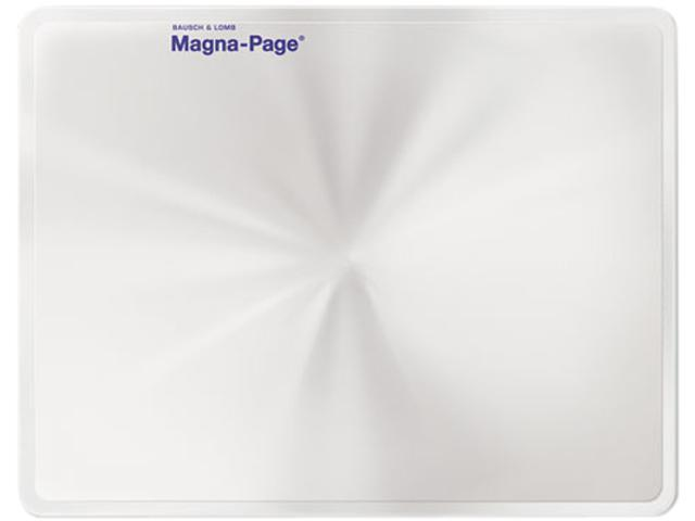 Bausch & Lomb 819007 2X Magna-Page Full-Page Magnifier w/Molded Fresnel Lens, 8-1/4